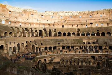 Interior of the Colosseum in Rome