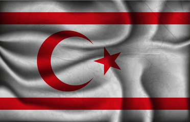crumpled flag of Turkish Republic of Northern Cyprus