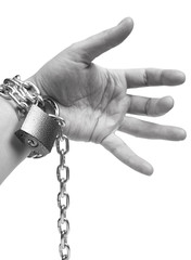 Chain on hand