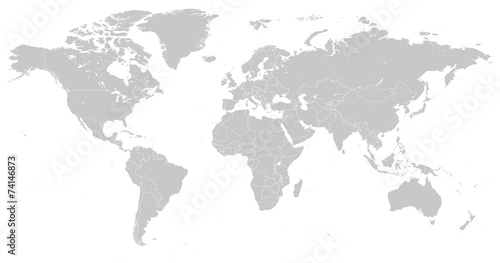 Hi Detail Vector Political World Map illustration - 74146873