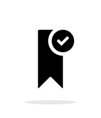 Check bookmark simple icon on white background.