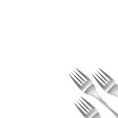 fork on white