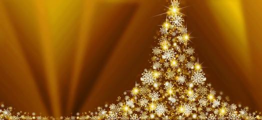 White Christmas tree on yellow  background.