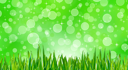 Abstract spring grass