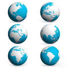 Hand and earth globe icon
