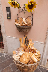 Cart of bread in the streets