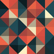 A retro geometric vector pattern - 74149037