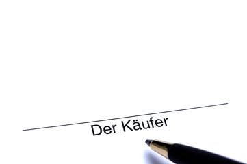 Unterschrift des Käufers