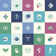 Set of flat design icons for medicine, healthcare, pharmacy