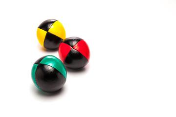 Juggling Balls on white background