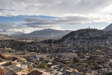 Quito south with Virgen del Panecillo hill