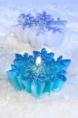 Christmas decor - candle snowflakes