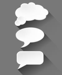 Vector speech bubble on grey background