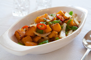 Roasted Squash and Peppers