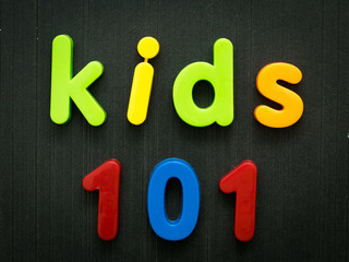 Kids 101 education concept