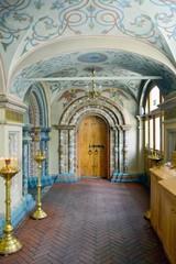 Interior da catedral de São Basílio na Praça Vermelha em Moscow