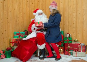Girl visiting Santas grotto