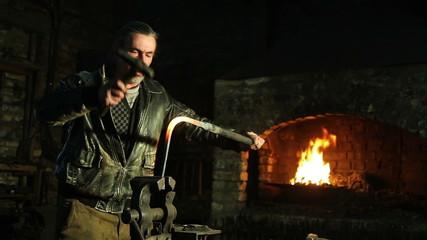 blacksmith in the smithy
