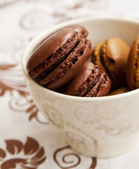 Chocolate Macarons, French Pastry