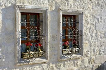 Janelas floridas em Goreme, Capadócia