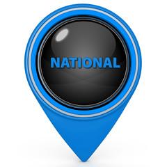 National pointer icon on white background