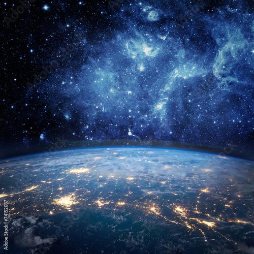 Earth and galaxy - 74152087
