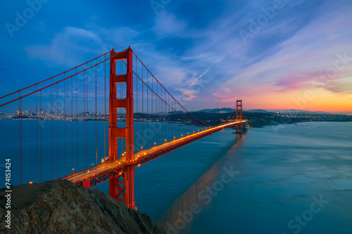 Foto op Plexiglas San Francisco Golden Gate Bridge
