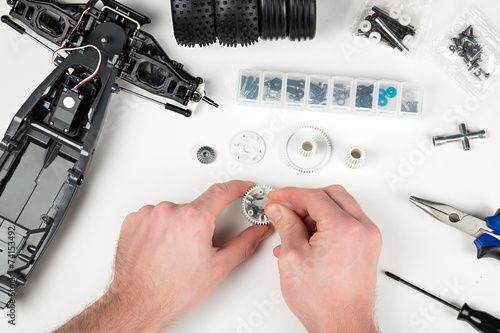 rc car assembly gear - 74153492