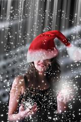 mujer en la fiesta de navidad