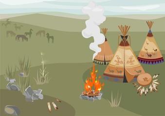Halt Indians in prairie