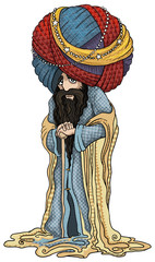 Old wise man, Sultan, from the East