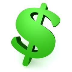 Green dollar sign