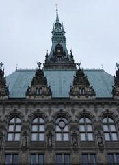Fragment of facade of Hamburg Town Hall (Hamburg Rathaus, 1897)