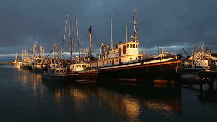 Moored Fishboats, Approaching Storm, Steveston