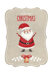 Watercolor illustration of Santa Claus