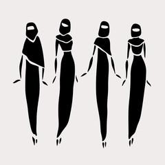East women in veiled.