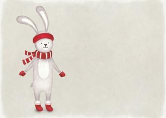 Watercolor illustration of rabbit