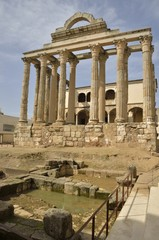 Temple of Diana in Merida, Spain