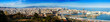 canvas print picture - Panorama of Barcelona with Port