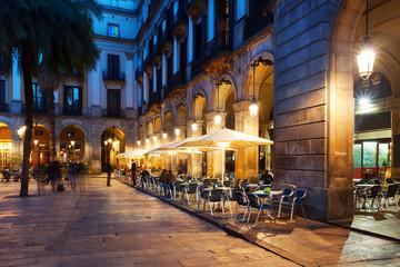 restaurants at Placa Reial. Barcelona