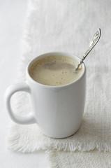 Cappuccino in a white mug