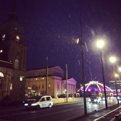 Erster Schnee in Darmstadt