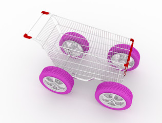 Cart on wheels