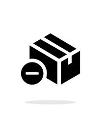 Remove box simple icon on white background.