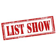 List Show-stamp