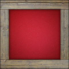 Wooden frame with red canvas