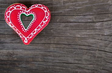christmas gingerbread heart shape valentines day love cookie