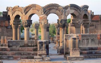 ruins of Zvartnots near Yerevan