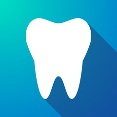 tooth long shadow icon