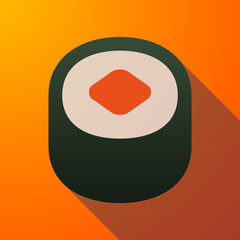 sushi long shadow icon